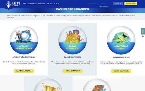 Ahti Games Casino Bonus