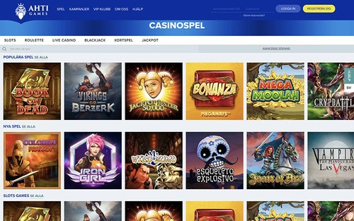 Ahti Games Casino Spel