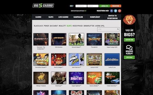 Big 5 Casino Spel