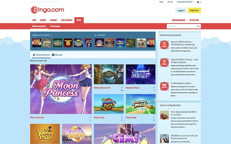 Bingo.com Spel