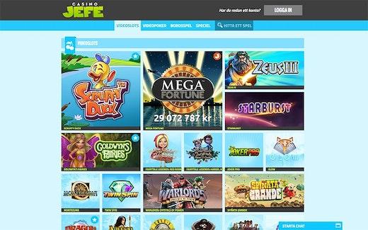 CasinoJEFE Spel