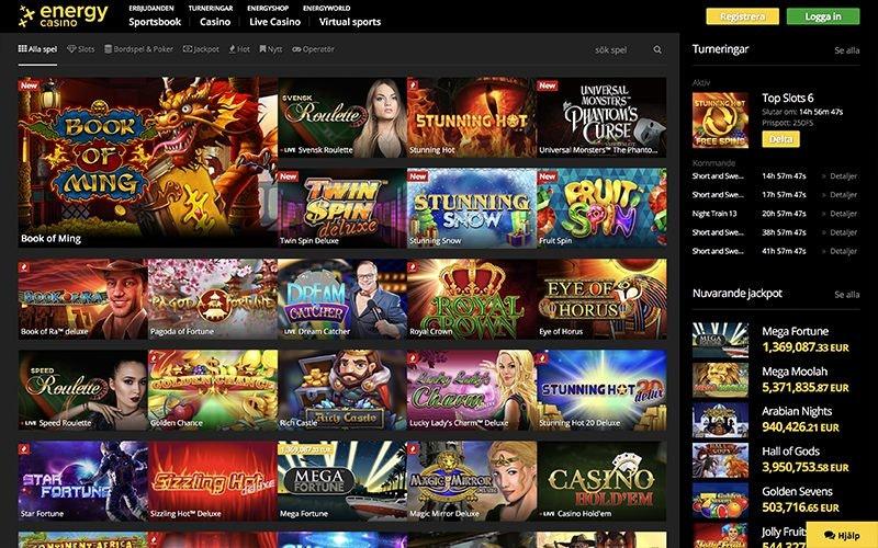 Energy Casino Spel