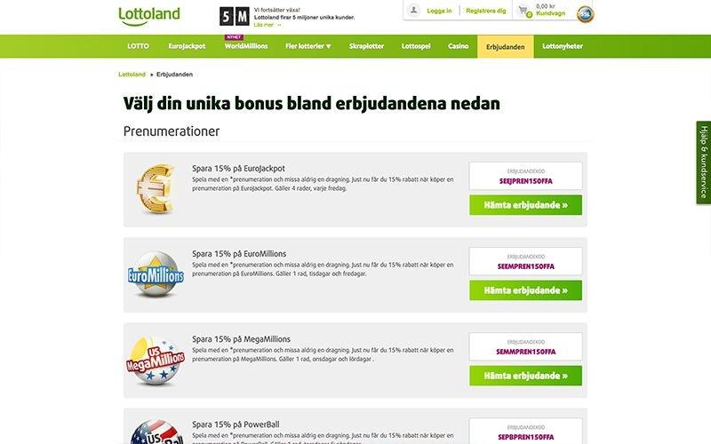 Lottoland Bonus
