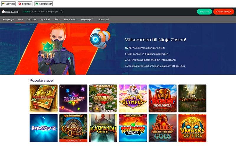 Ninja Casino » Spela utan registrering + Uttag på 5 min - Få Bonus! 53c6952031073