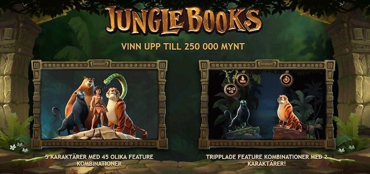 Startskärmen i Jungle Books