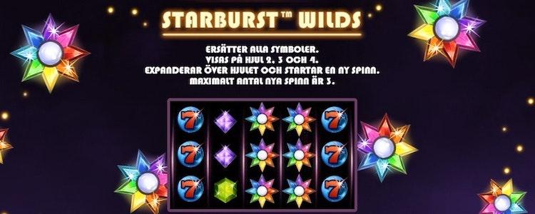 Starburst wilds ger dig respins