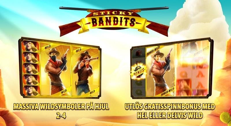 Sticky Bandits har bonusfunktion med free spins