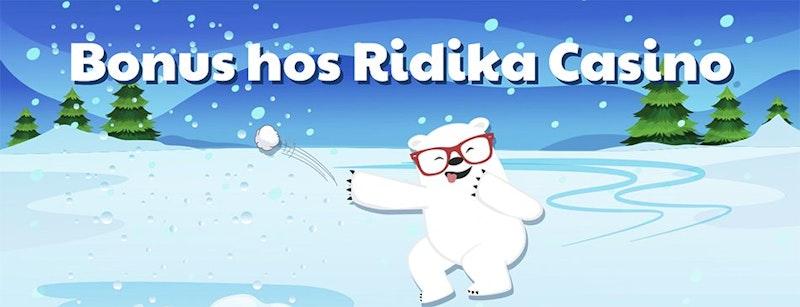 Välkomstbonusar hos Ridika Casino