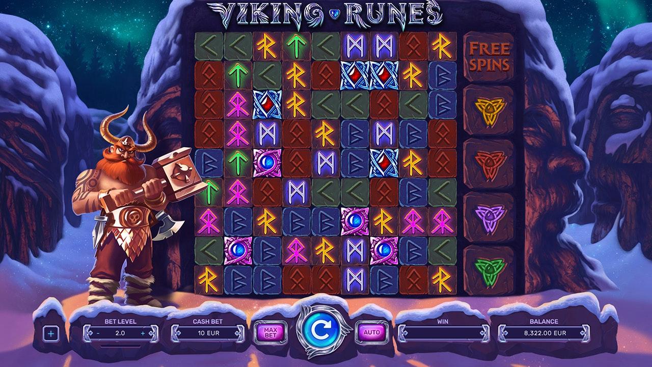 Screenshot från sloten Viking Runes